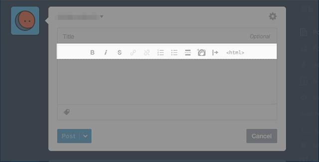傳統 文字編輯器 UI
