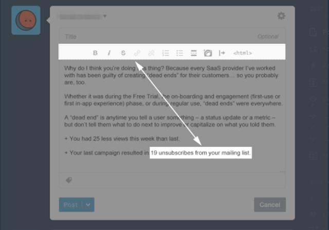 傳統 文字編輯器 選項與編輯項目之間的距離