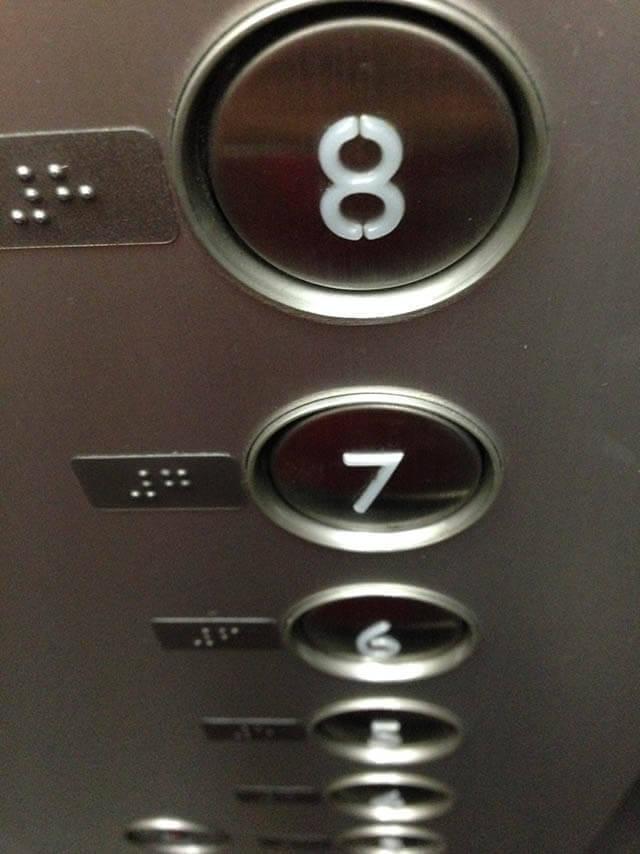 按鈕上的數字是立體的