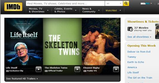 "IMDb 的搜尋 bar 提供了一個""All""選項"
