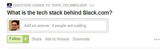 Quora 只顯示短短的文字區域,直到...