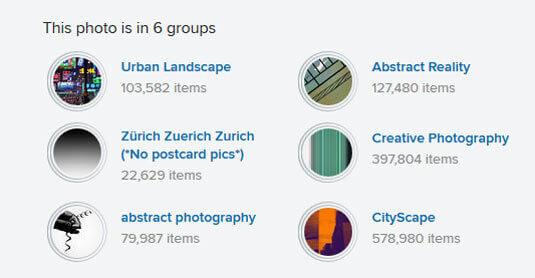 flickr 可利用關鍵字 tag 將照片分類