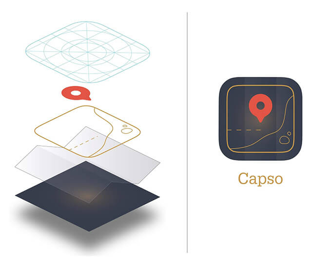 Exploded view of App icon