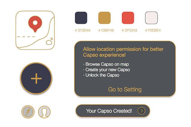 Design element of Capso