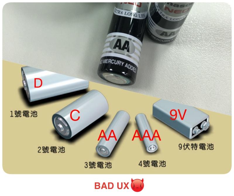 pixnet-UX-UX-in-Life-電池型號